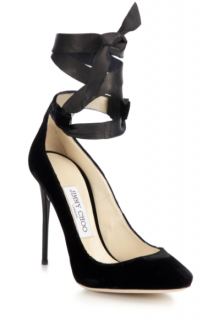 Jimmy Choo Velvet Rosana 100 Stiletto Pumps