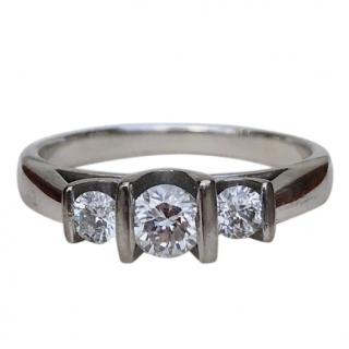 Bespoke 18ct White Gold 0.40ct Diamond Trilogy Ring