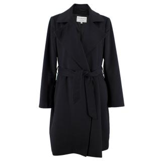 Johnstons of Elgin Black Cashmere Belted Coat