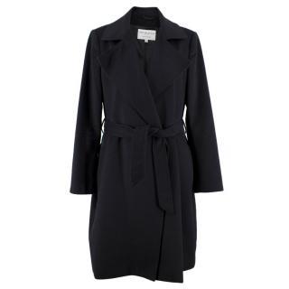 Johnstons of Elgin Black Cashmere Belted Coat