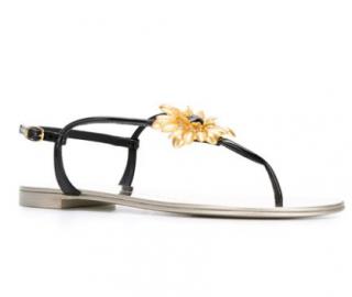 Giuseppe Zanotti Floral Thong Strap Sandals