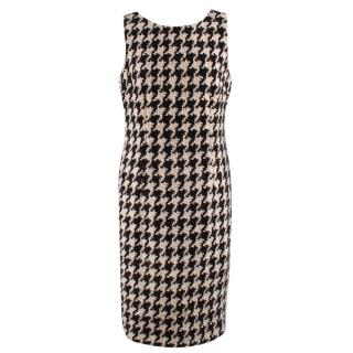 Dolce & Gabbana Houndstooth Wool Knit Dress