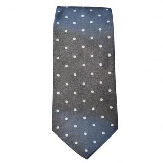 Ralph Lauren Purple Label grey polka-dot tie