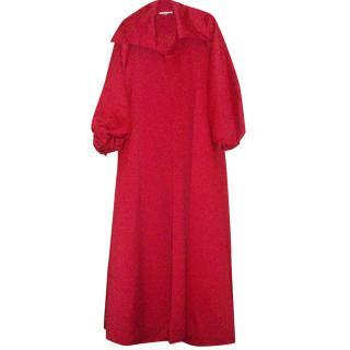 Victor Costa Red Satin Opera Coat