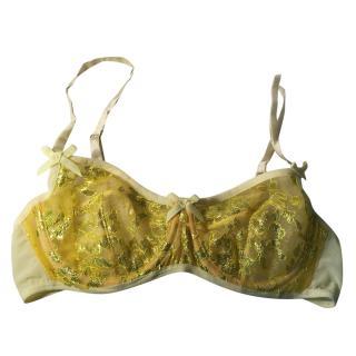 Damaris Electric Yellow Lace Bra 32C