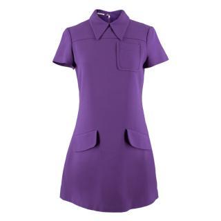 Miu Miu Purple Mini Shift Dress