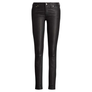 Polo Ralph Lauren Stretch-Leather Lambskin 5-Pocket Pant