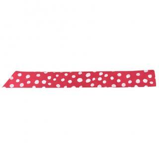 Blumarine Red Polka Dot Cotton Scarf