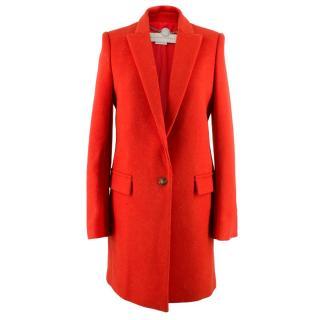 Stella McCartney Red Felt Coat
