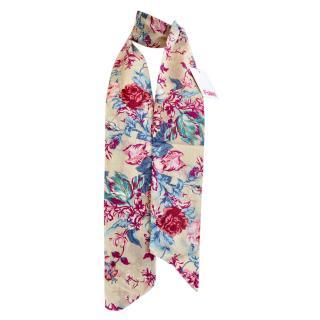 Blumarine Floral Print Cotton Scarf