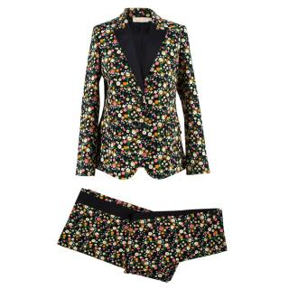 Tory Burch Black Floral Suit