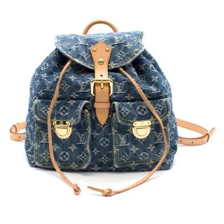 Louis Vuitton Rare Denim Monogram Backpack