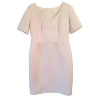 Jacques Azagury silk baby pink sheath dress