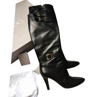 Jimmy Choo Heeled Buckle Strap  Boots