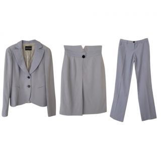 Emporio Armani 3 piece pastel blue suit