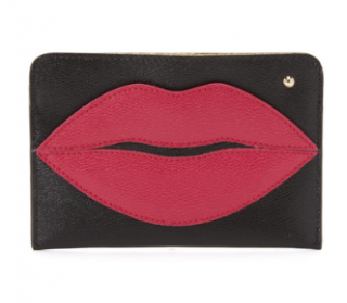 Charlotte Olympia leather pouty passport holder