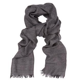 Bottega Veneta anthracite cashmere blend scarf