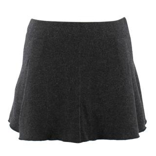 Oscar De La Renta Grey Cashmere Mini Skirt
