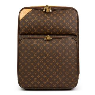 Louis Vuitton Coated Canvas Pegase Legere 55 Monogram Suitcase
