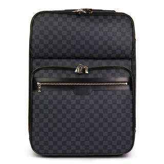 Louis Vuitton Coated Canvas Pgase Legere 55 Damier Graphite Suitcase