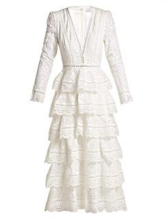 Zimmermann Bayou Cotton Broderie Anglaise Midi Dress- Current Season