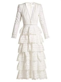 Zimmermann Bayou Cotton Broderie Anglaise Midi Dress- Current Season