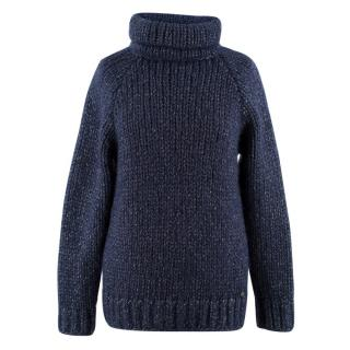 Chanel Mohair-blend Chunky Glitter Roll-neck Jumper