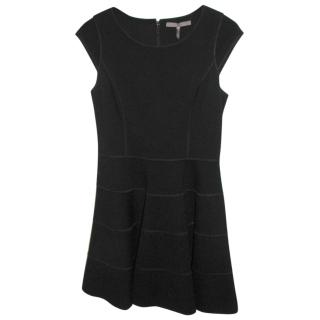 Halston Heritage little black flared dress