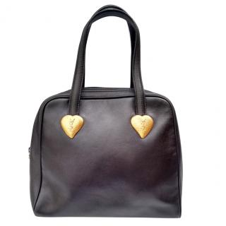 Yves Saint Laurent Vintage Black Leather Bag.