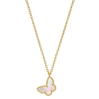 Van Cleef & Arpels Yelow Gold Butterfly Alhambra Necklace