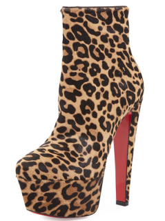 Christian Louboutin Pony Hair 160 Ankle Boots