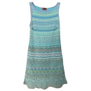 Missoni Blue Knit Mini Dress