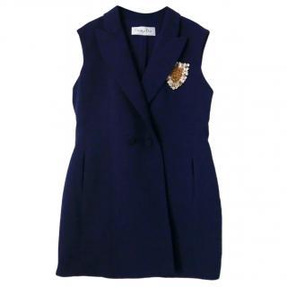 Dior SS14 Navy Mini Coat Dress