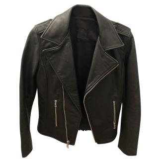 RTA Leather Fringed Jacket