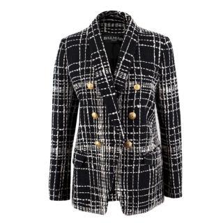 Balmain Black and White Tweed Jacket