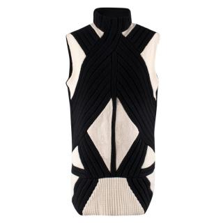 Givenchy Monochrome Knit Wool Vest