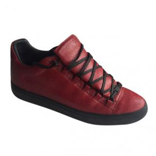 Balenciaga Men's Red & Black Arena Low Trainers