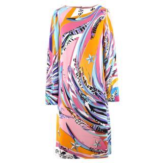 Emilio Pucci Abstract Pattern Shift Dress