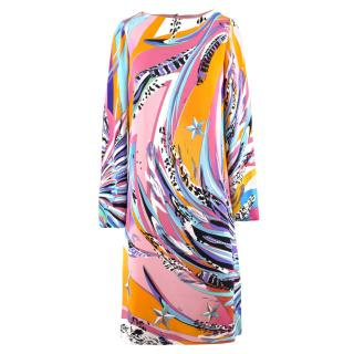 Emilio Pucci Abstract Pattern Shift Dress