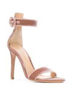 Gianvito Rossi Blush Rose Portofino 105 Velvet Sandals