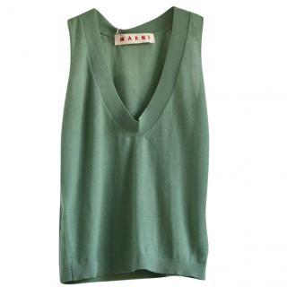 Marni Green Cashmere Vest