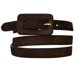 Ralph Lauren brown suede belt