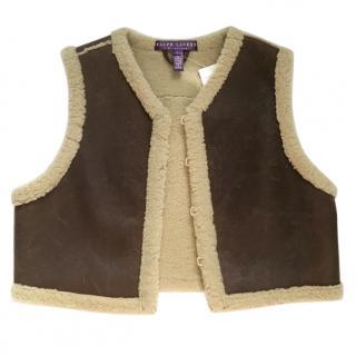 Ralph Lauren Leather & Shearling Vest