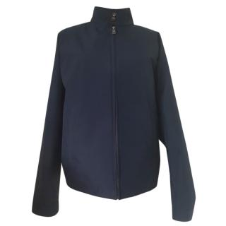 Prada Men's Navy High Neck Jacket