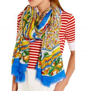 Dolce & Gabbana Sicily Majolica scarf