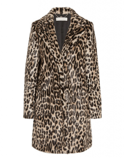 Stella McCartney Leopard Faux Fur Coat