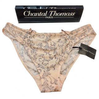 Chantal Thomass Soft Peach Tulle Filigree Briefs