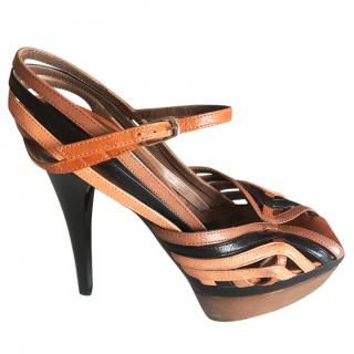 Marni Leather Platform Pumps