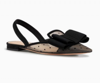Dior Swiss Dotted Tulle Ballet Flats