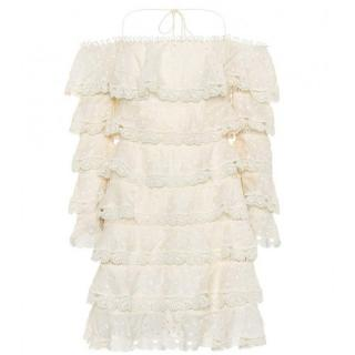 Zimmermann Painted Heart Love Mini Dress